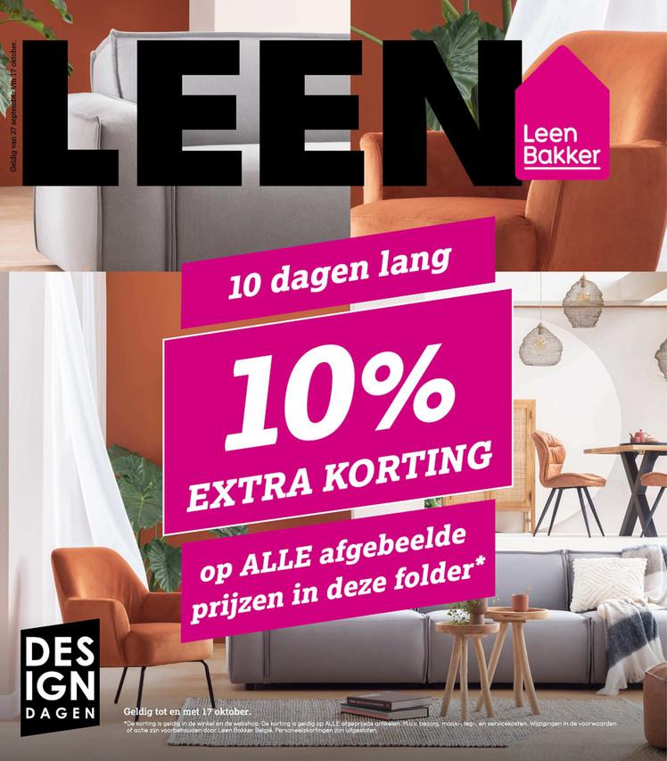 Leen Bakker folder van 11/10/2021 tot 17/10/2021 - Weekpromoties 41 korting