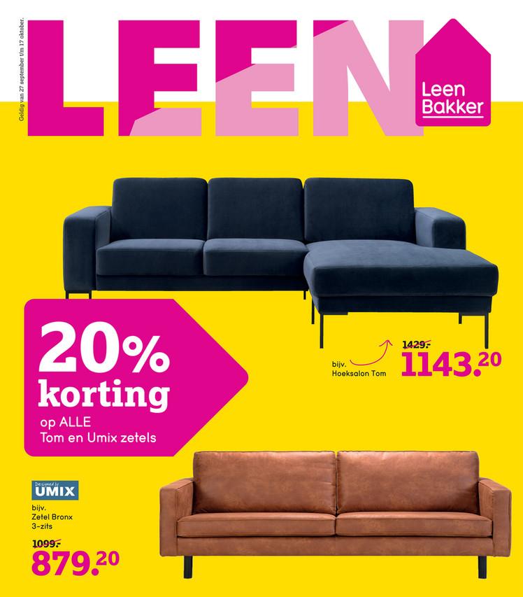 Leen Bakker folder van 11/10/2021 tot 17/10/2021 - Weekpromoties 41