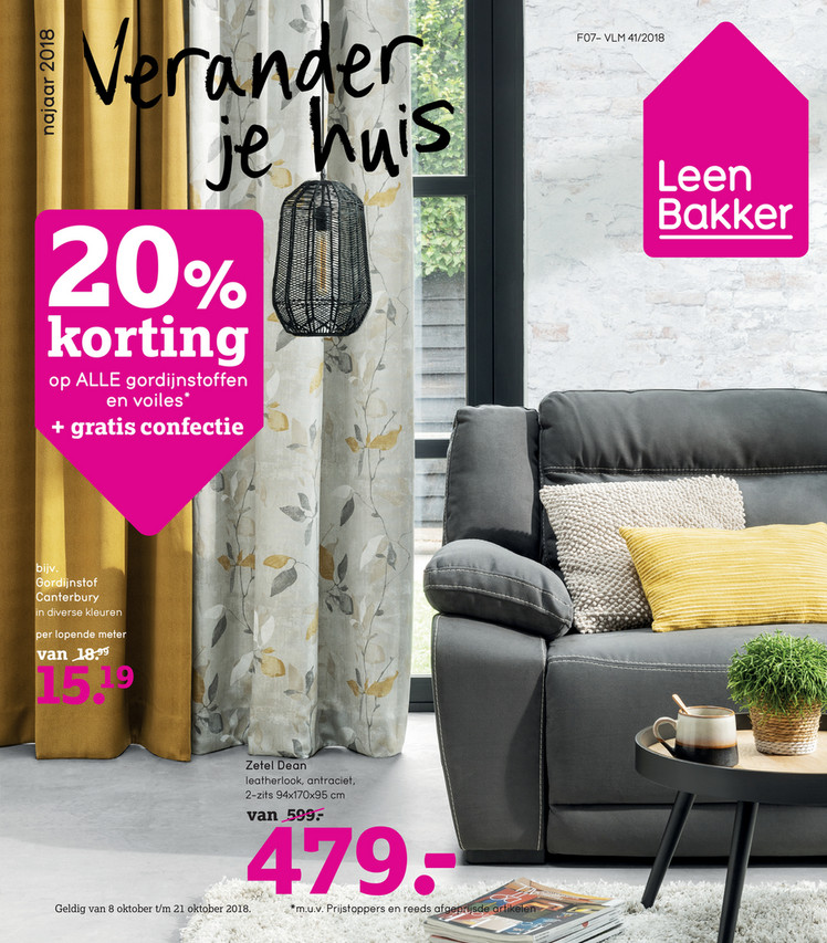 Leen Bakker folder van 08/10/2018 tot 14/10/2018 - Weekpromoties 41
