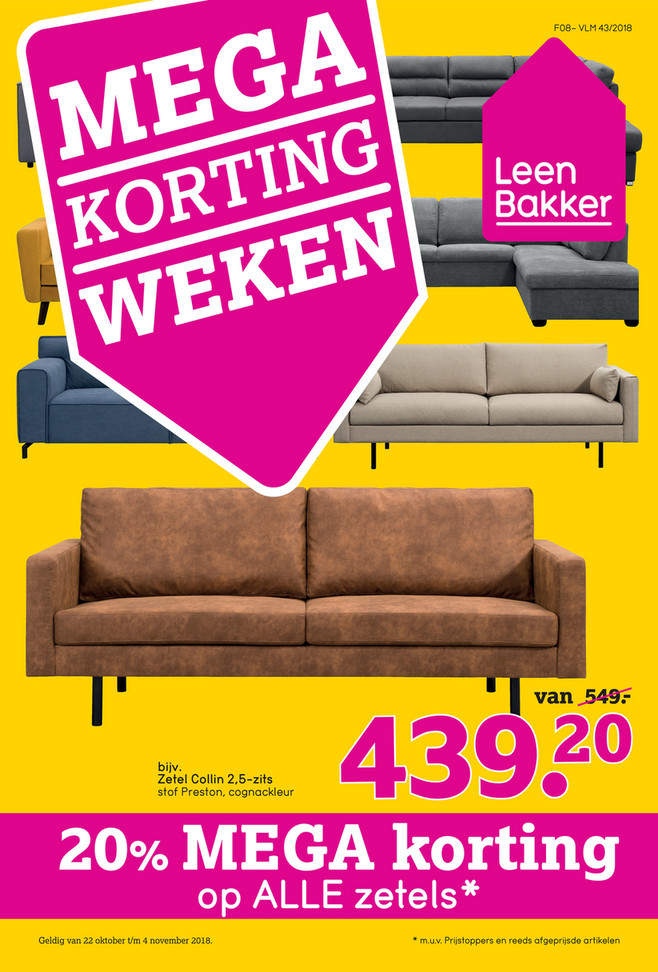 Leen Bakker folder van 22/10/2018 tot 04/11/2018 - Weekpromoties 43