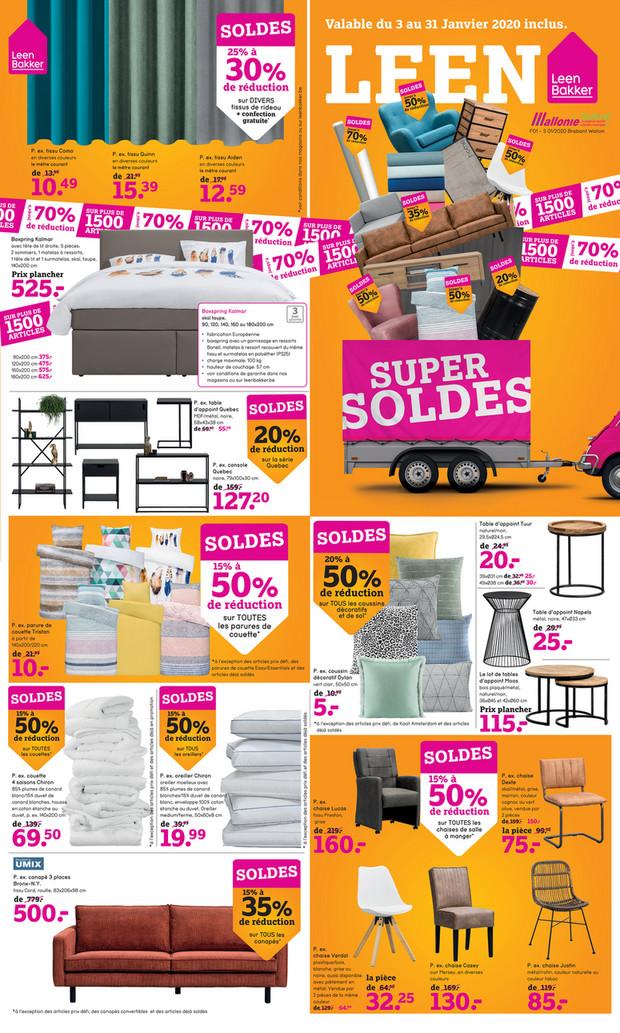 Folder Leen Bakker du 03/01/2020 au 31/01/2020 - Promotions du mois de janvier