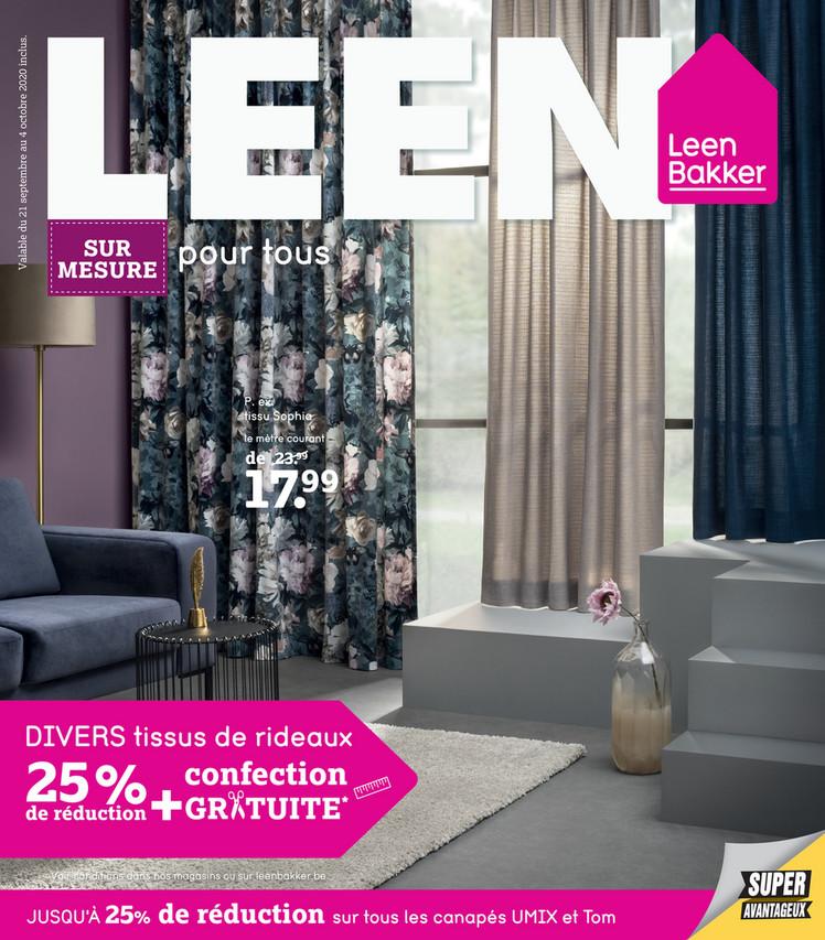 Folder Leen Bakker du 21/09/2020 au 04/10/2020 - Promotions de la semaine 39