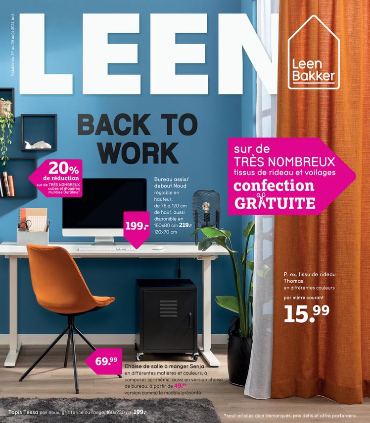 Folder Leen Bakker du 02/08/2021 au 29/08/2021 - Promotions de la semaine 31