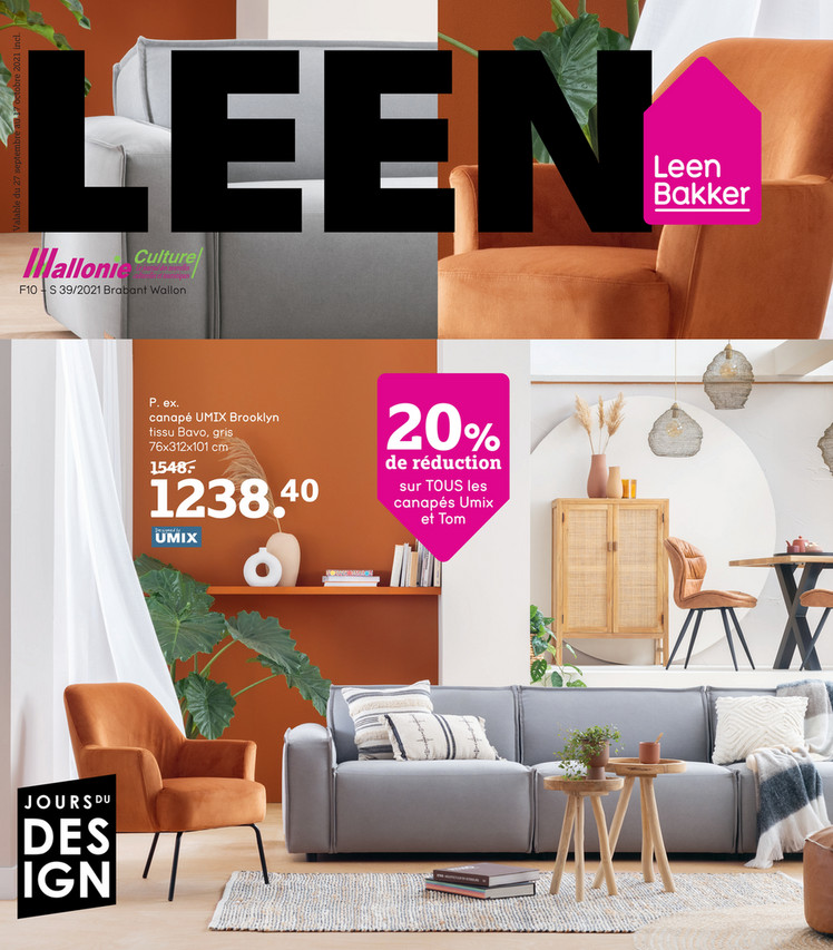 Folder Leen Bakker du 27/09/2021 au 17/10/2021 - Promotions de la semaine 39
