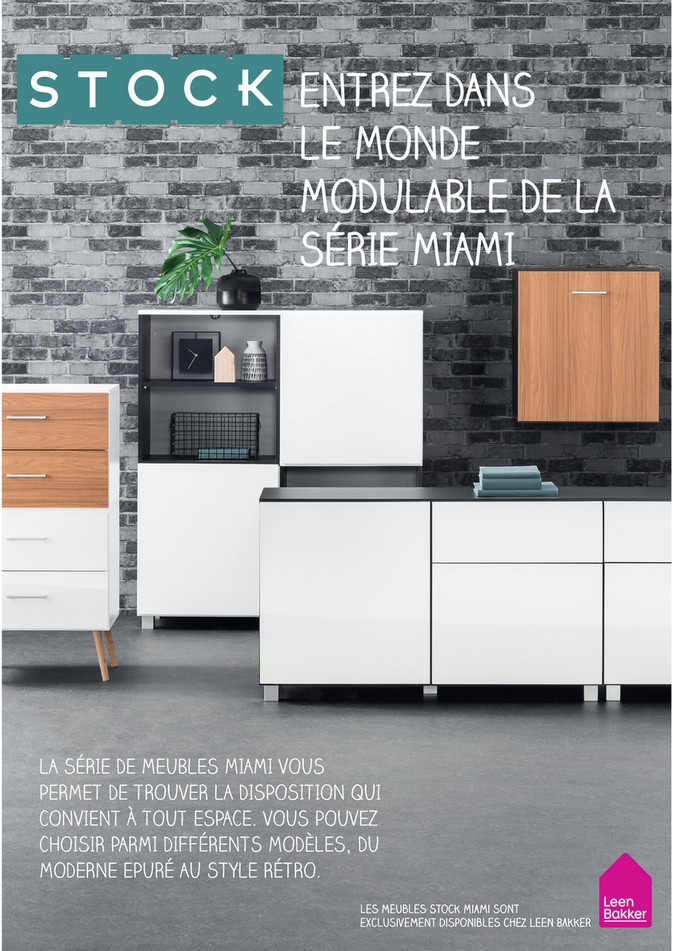 Folder Leen Bakker du 01/11/2018 au 31/12/2019 - Brochure-stock-miami