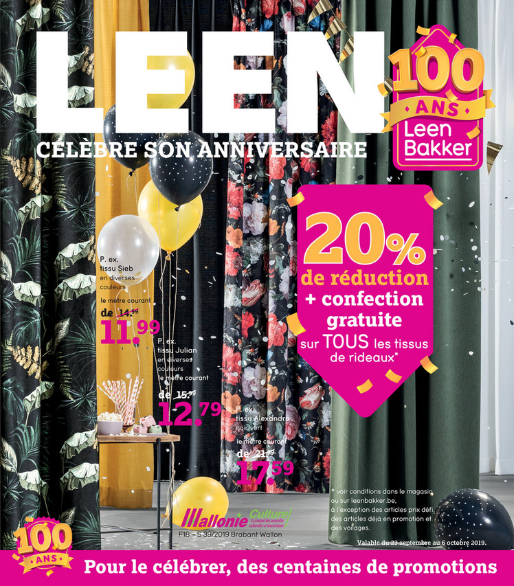 Folder Leen Bakker du 23/09/2019 au 06/10/2019 - Weekpromoties 39
