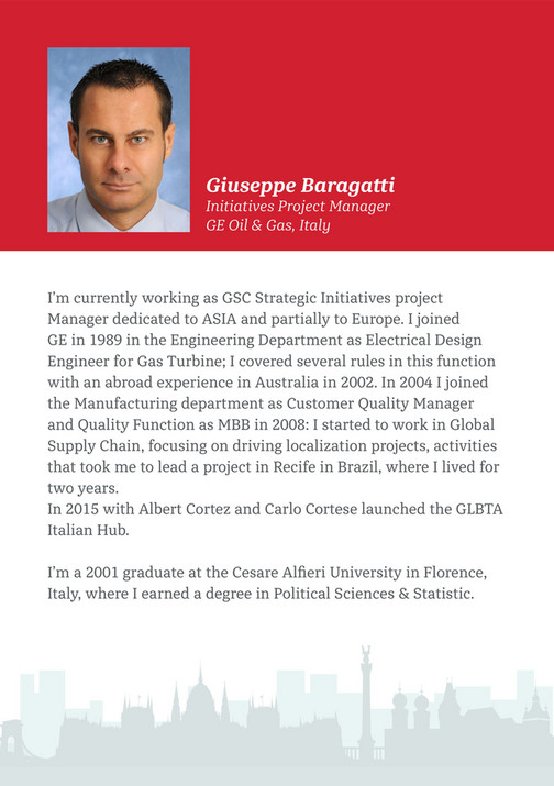 Giuseppe Baragatti Initiatives Project Manager GE Oil u0026 Gas Italy Iu0027m currently working  sc 1 st  Publitas & GE Lighting - GE GLBTA Meeting 2016 Budapest - Page 24-25 - Created ...