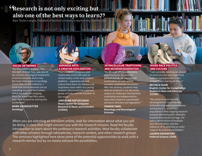 Stanford University VPUE - Find Your Seminar - Page 8-9 - Created