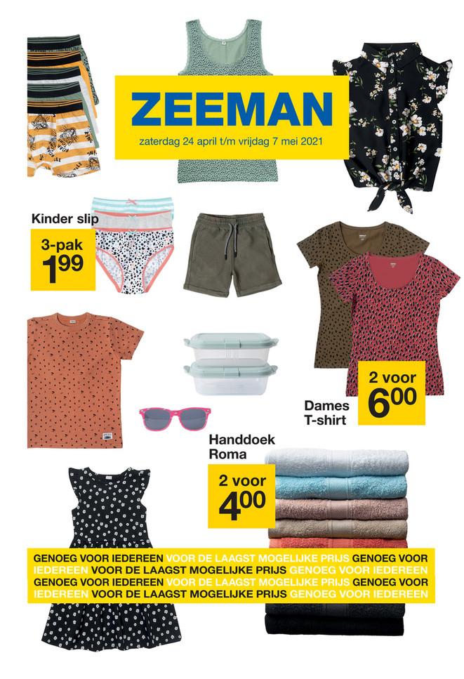 Zeeman folder van 24/04/2021 tot 07/05/2021 - Weekpromoties 17-18