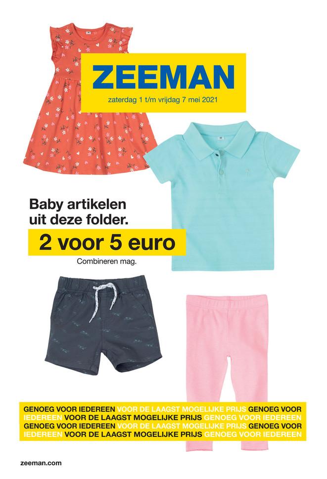 Zeeman folder van 01/05/2021 tot 07/05/2021 - Weekpromoties 18