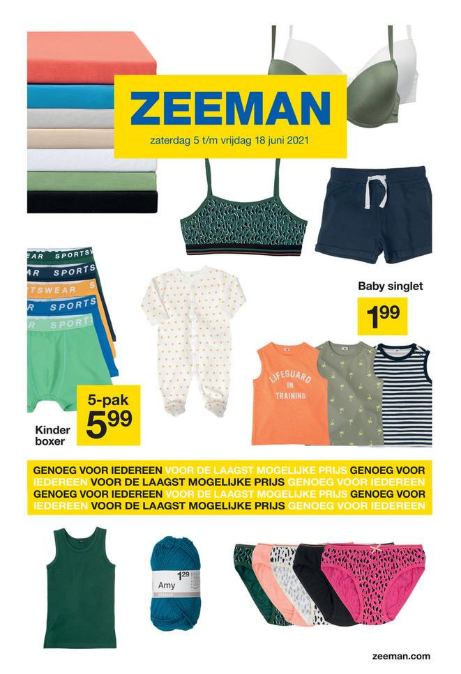 Zeeman folder van 05/06/2021 tot 18/06/2021 - Weekpromoties 23-24