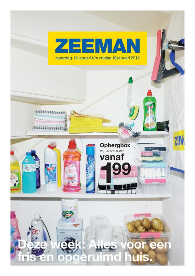 Zeeman folder van 15/01/2018 tot 19/01/2018 - Solden Week 3 2018
