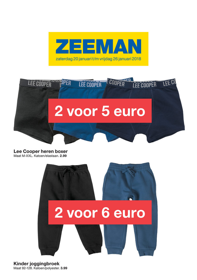 Zeeman folder van 18/01/2018 tot 26/01/2018 - Thermo promo januari week 4