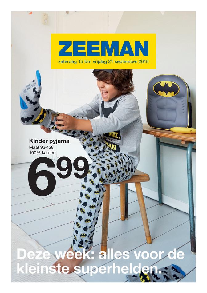 Zeeman folder van 15/09/2018 tot 21/09/2018 - Weekpromoties 38