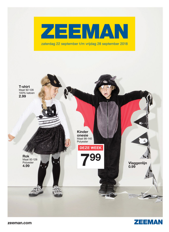 Zeeman folder van 22/09/2018 tot 28/09/2018 - Weekpromoties 39