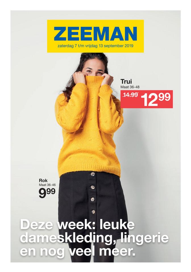 Zeeman folder van 07/09/2019 tot 13/09/2019 - Weekpromoties 37