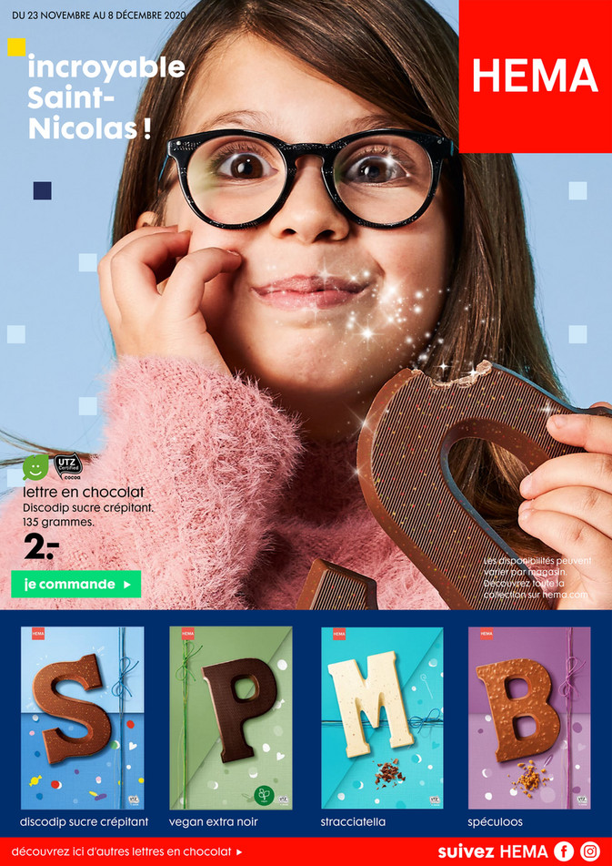 Folder Hema du 25/11/2020 au 08/12/2020 - Promotions de la semaine 48