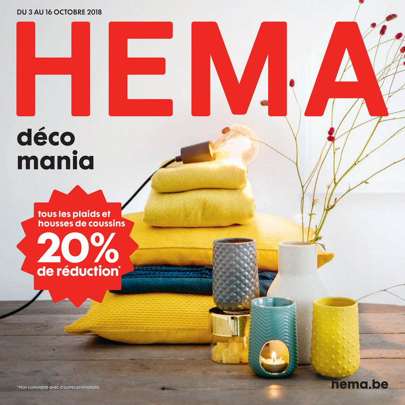 Folder Hema du 03/10/2018 au 16/10/2018 - Promotions de la semaine 40-41