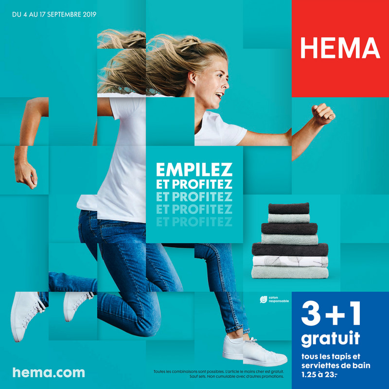 Folder Hema du 04/09/2019 au 17/09/2019 - Promotions de la semaine 37