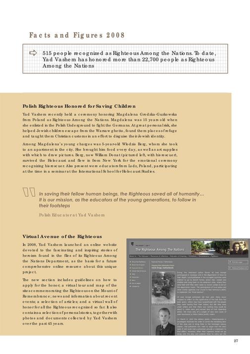 Yad Vashem - Yad Vashem Annual Report 2008 - Page 26-27