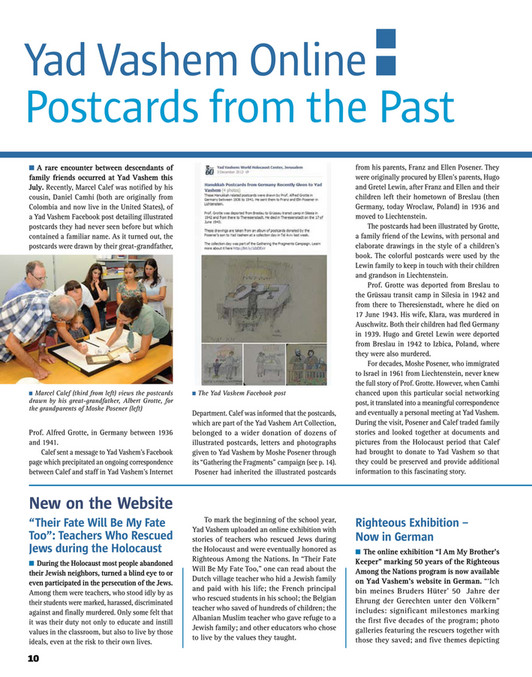 Yad Vashem - Yad Vashem Magazine #75 - Page 12-13 - Created with