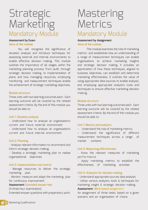 CSL Academy - Marketing Qualifications Brochure - Page 20-21