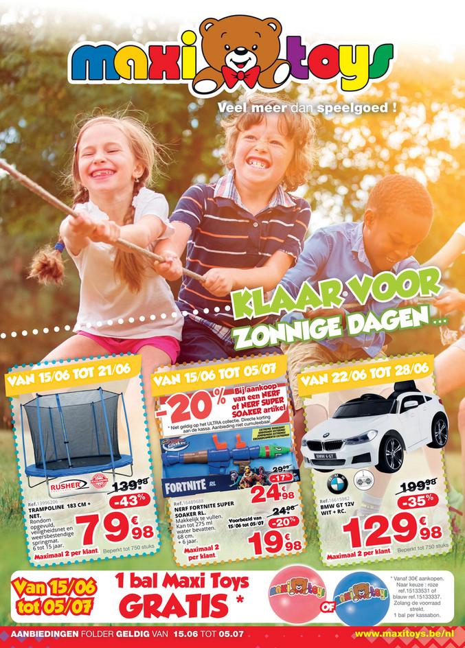 Maxi Toys folder van 15/06/2020 tot 05/07/2020 - Maandpromoties juni