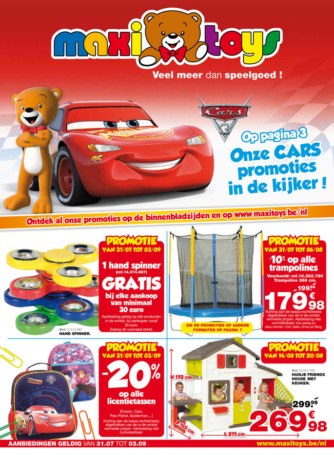 Maxi Toys folder van 31/07/2017 tot 03/09/2017 - maxi-toys-be-nl-catalogue-c8-2017-be-nl.pdf