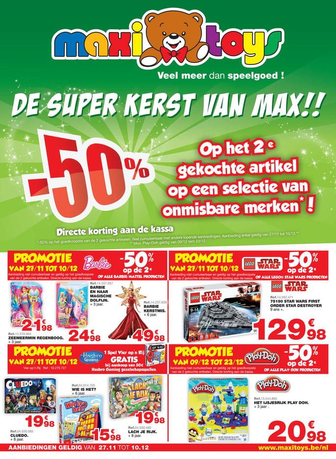 Maxi Toys folder van 24/11/2017 tot 09/12/2017 - De super kerst van Max speelgoed