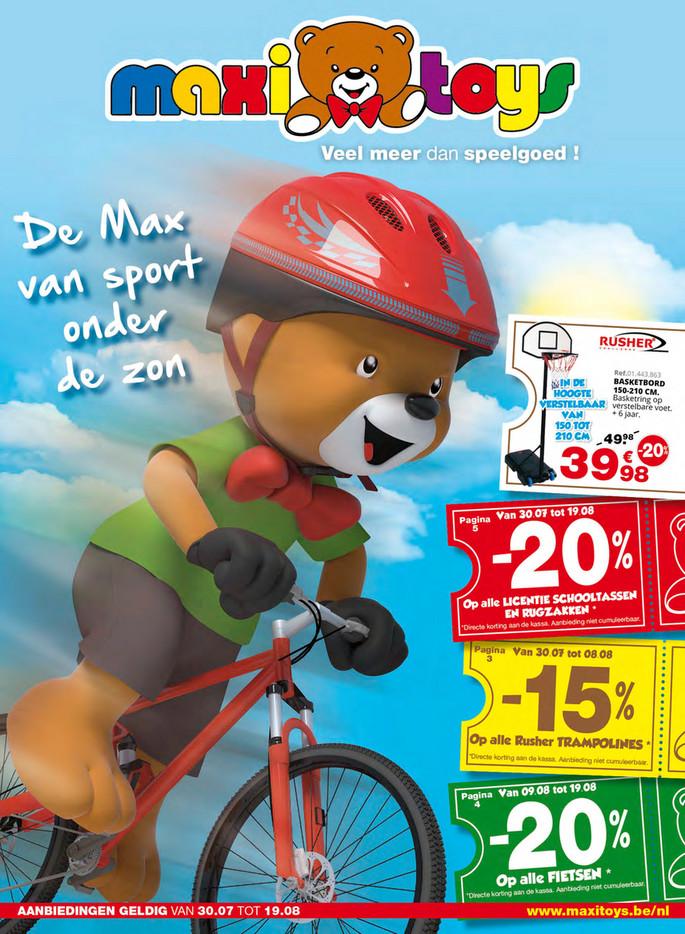 Maxi Toys folder van 01/08/2018 tot 31/08/2018 - Maandpromoties