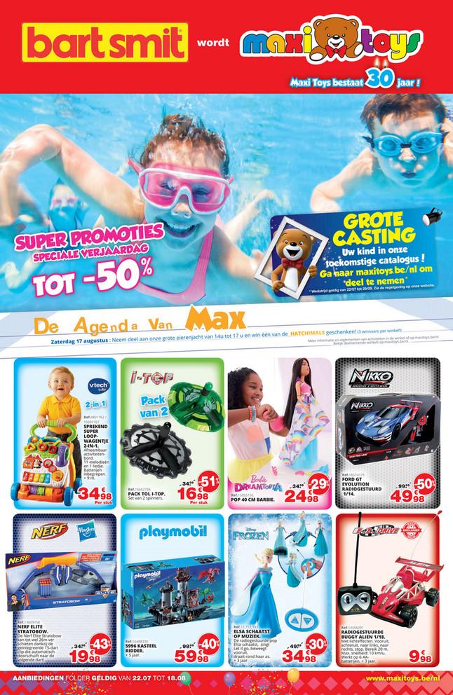 Maxi Toys folder van 22/07/2019 tot 18/08/2019 - Maandpromoties