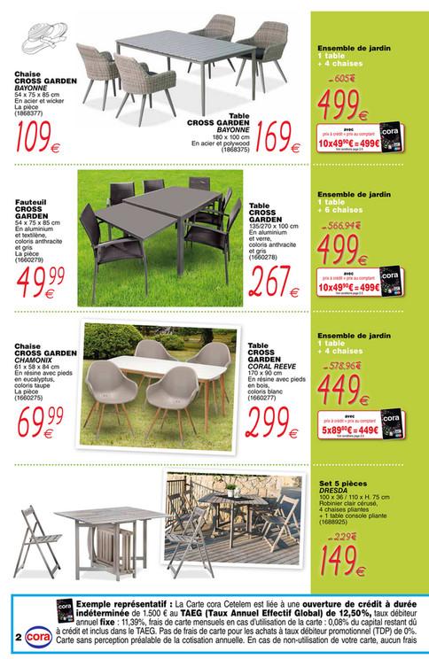 Cora - Mobilier de jardin et senior cora Messancy - Page 2-3