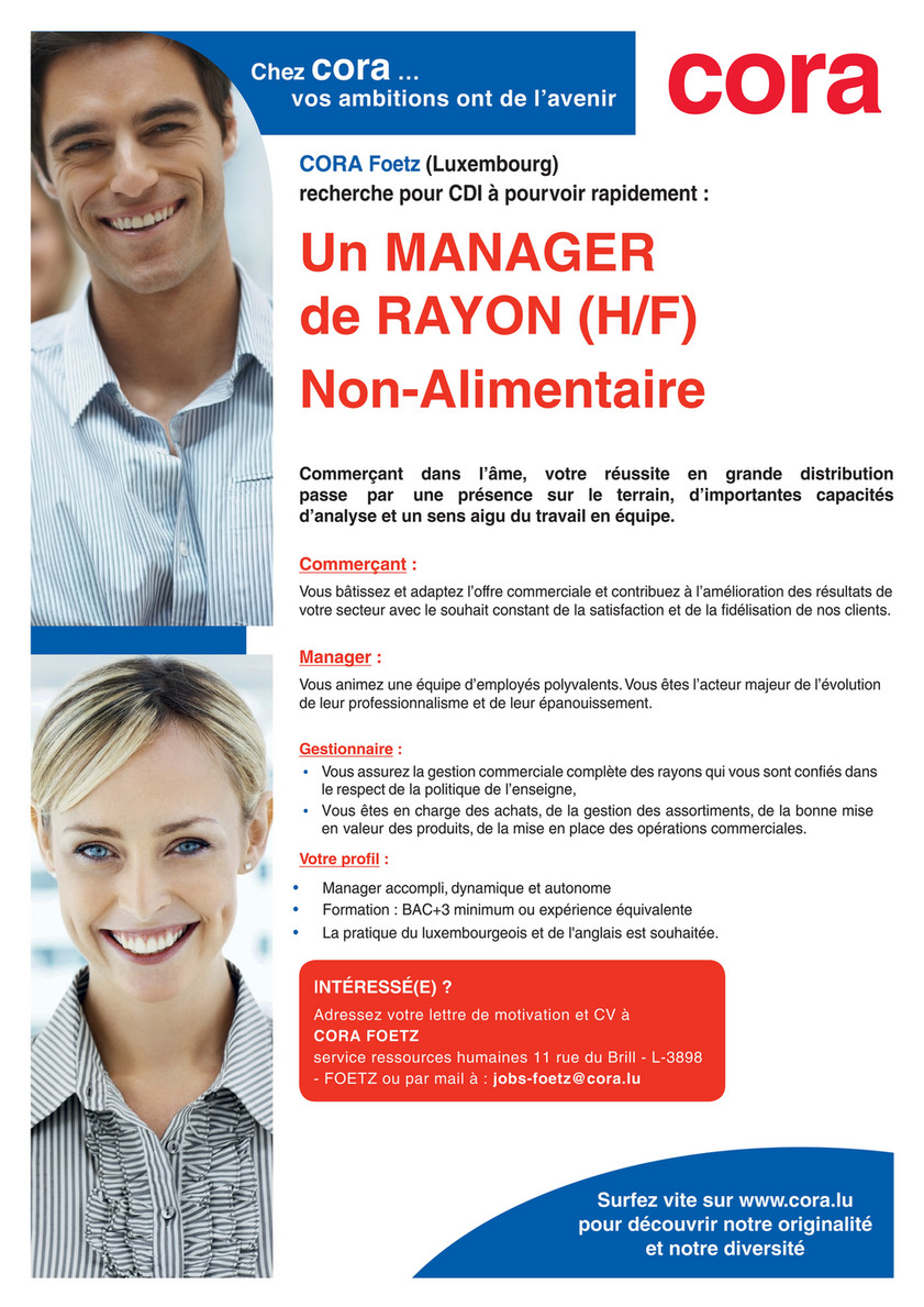Cora Foetz Manager Rayon Non Alimentaire Page 1 Created With