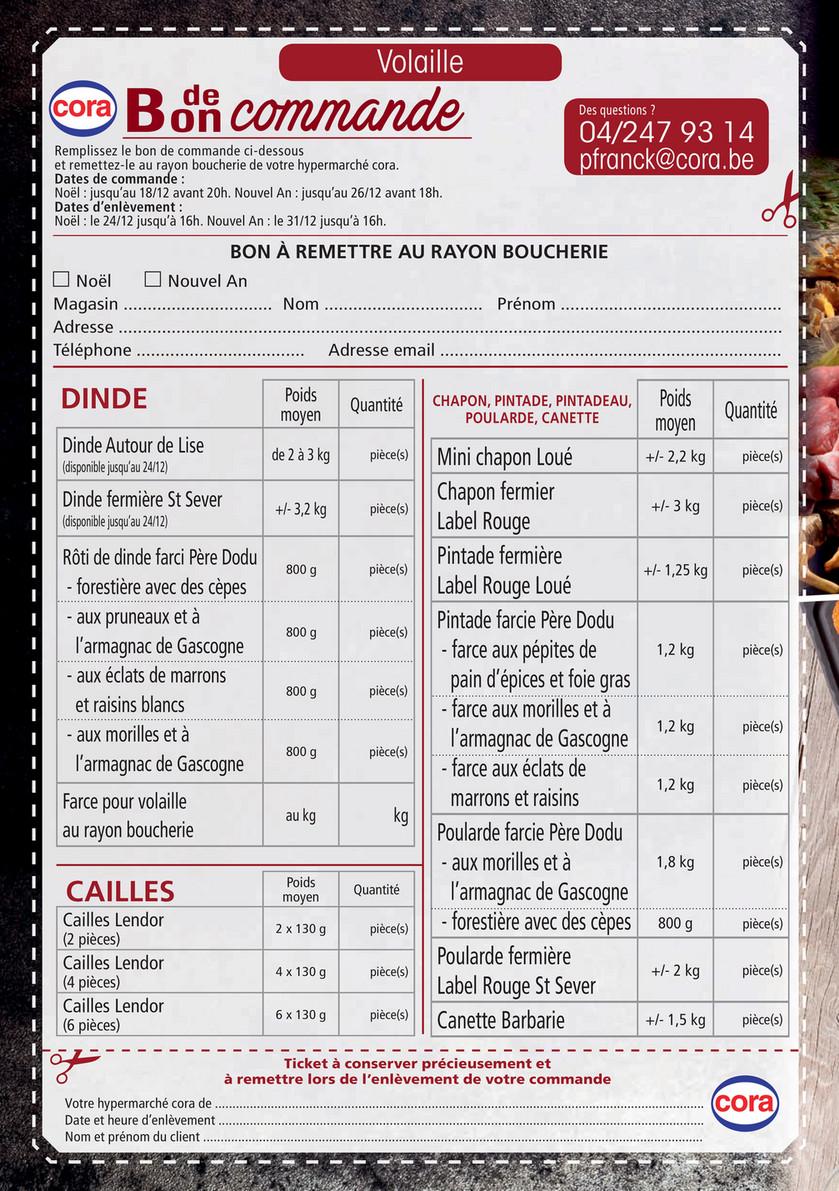 Cora Menu De Noel.Cora Bon De Commande Boucherie Au Cora Rocourt Page 2 3
