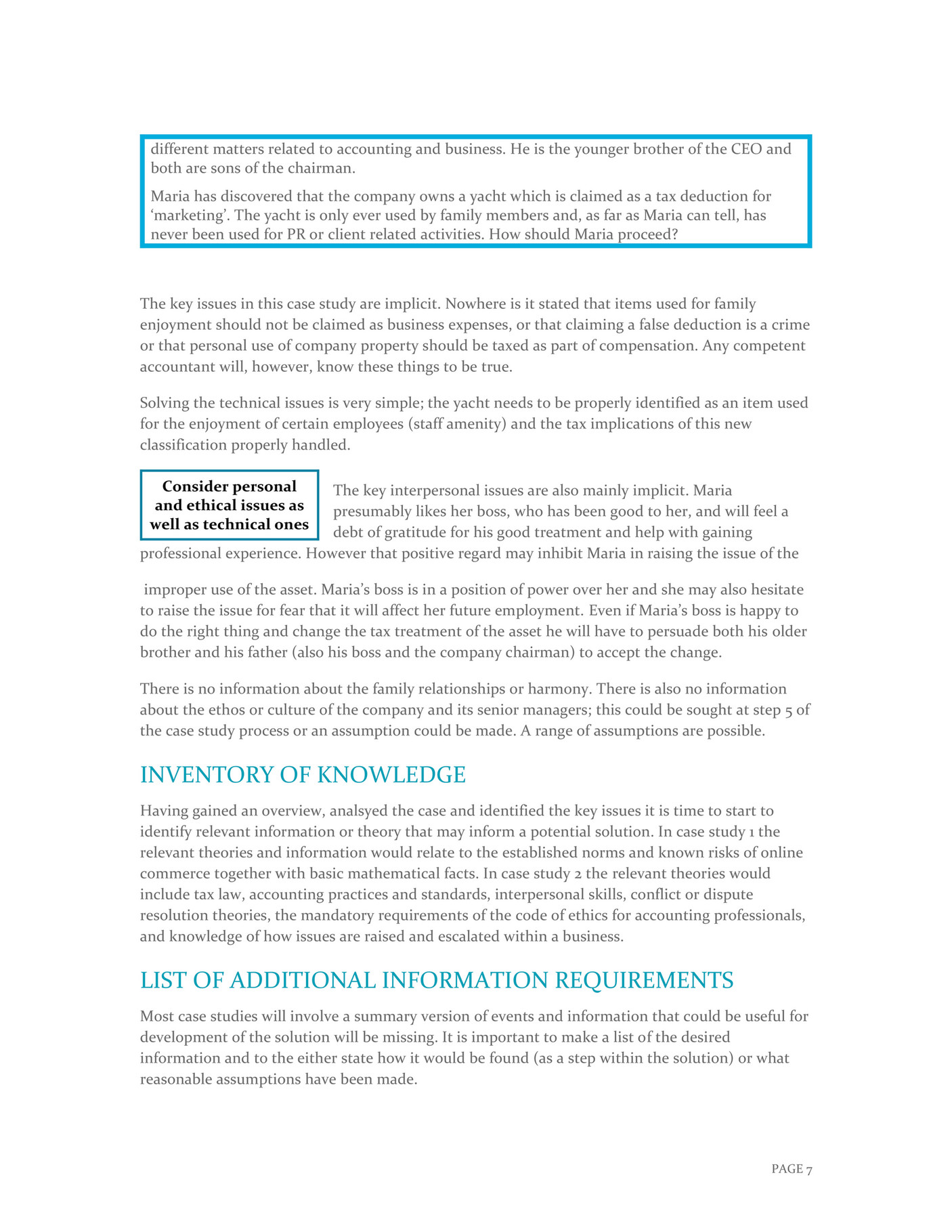 Ozrep Pty Ltd - How to Answer Case Study Questions - Page 8