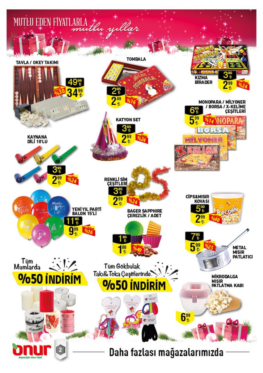 Onur Market 19 Aralık 1 Ocak Yeni Yıl İndirimleri
