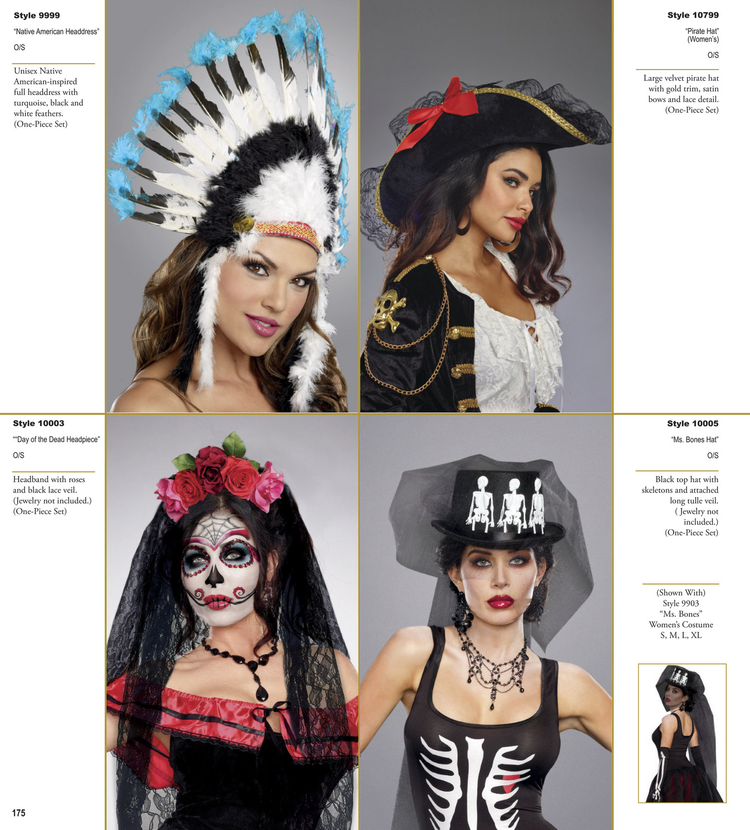 New Dreamgirl 10005 Black Top Hat With Skeletons And Veil