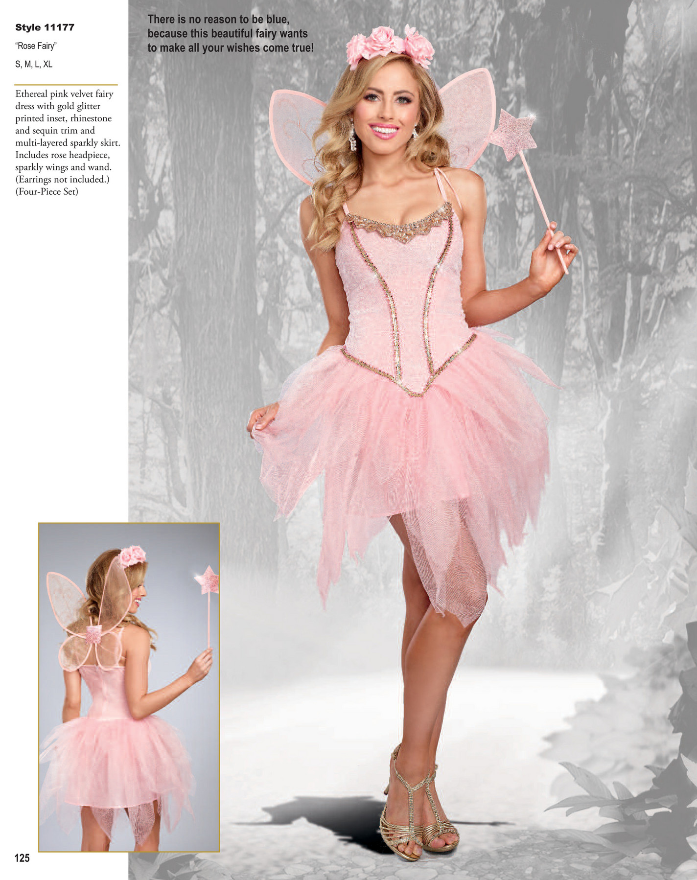 Dreamgirl Womens Sparkling Rose Gold Costume