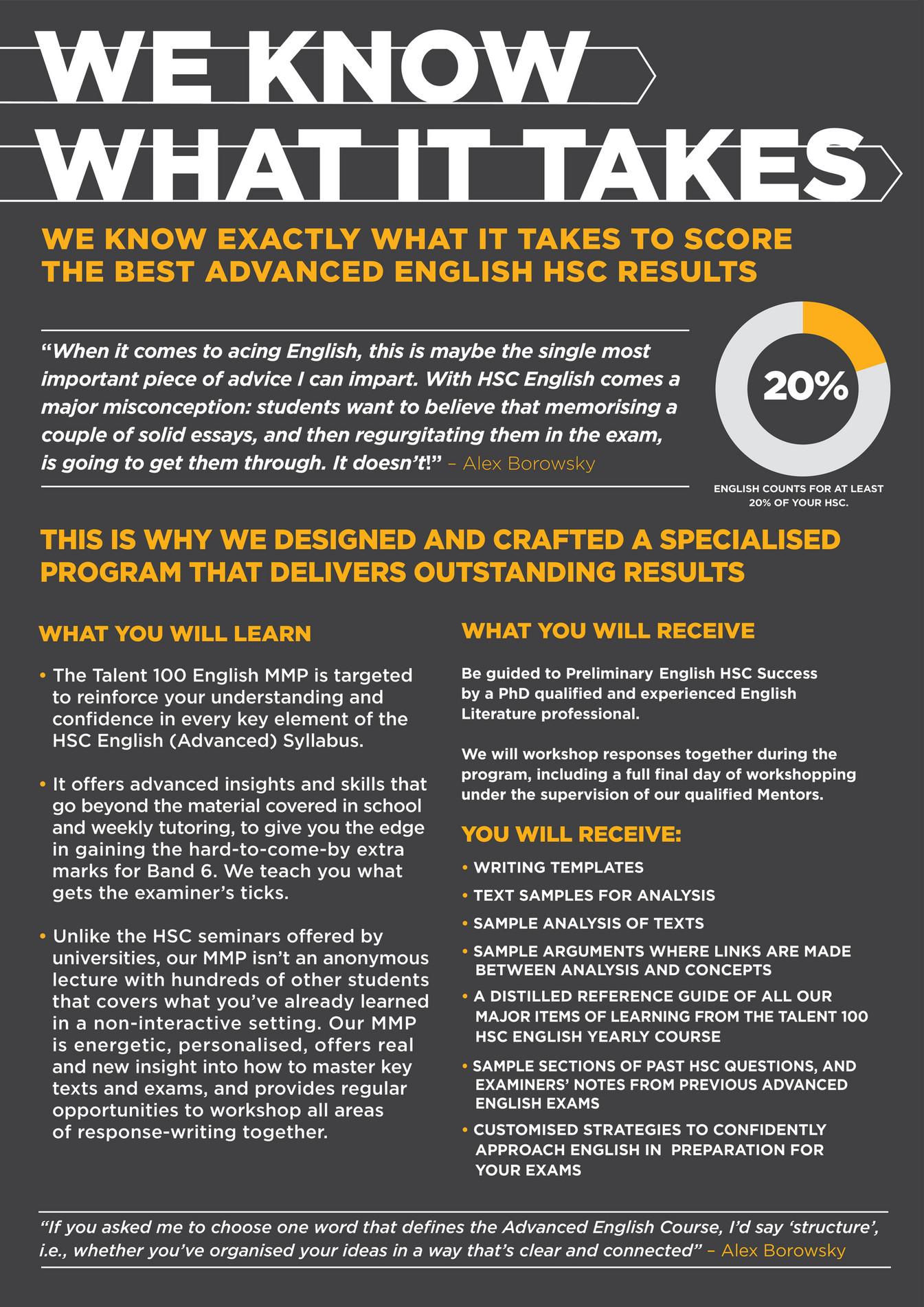Talent 100 - Talent 100 English MPP Yr 12 - Page 2-3