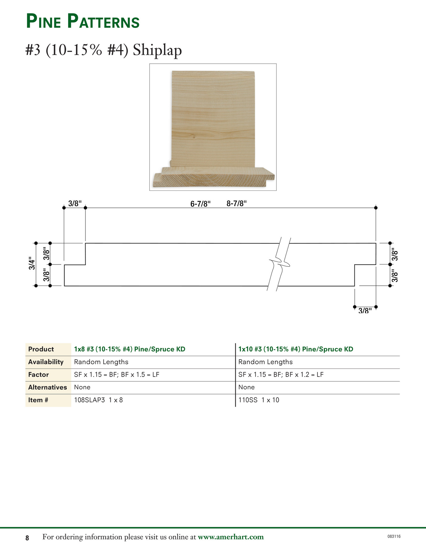 Amerhart | Wood Specialties Catalog 2016 - Page 10-11