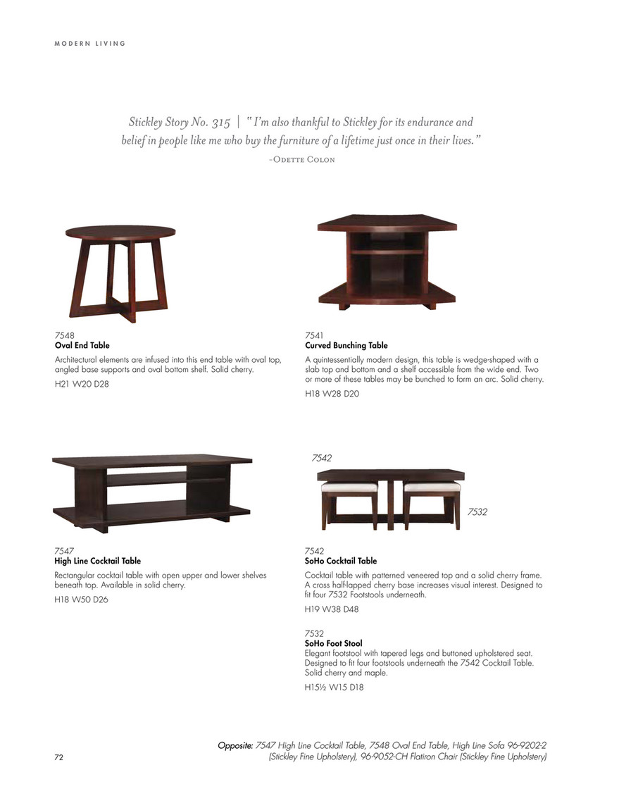 Stickley Modern At Sheffield Furniture Interiors Page 72