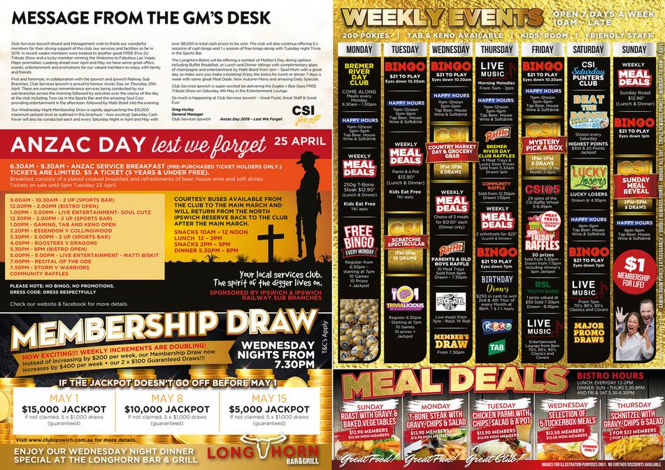 Club Services Ipswich - CSI Ipswich - April & May Magazine