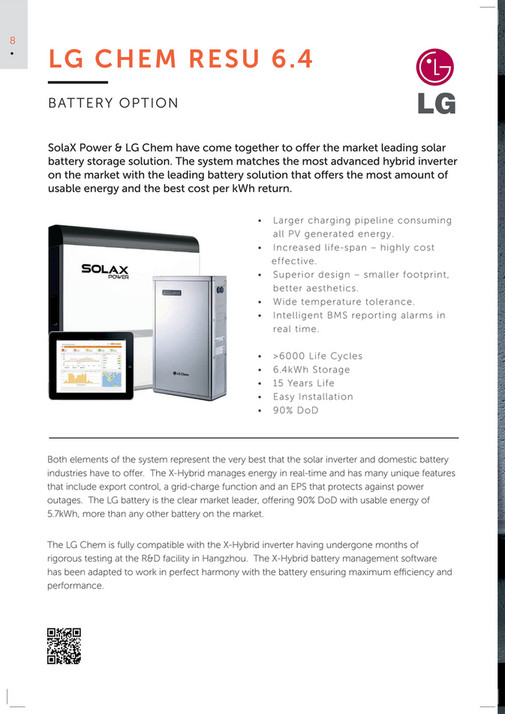 SolaX Power Europe - X-Hybrid Brochure - Page 8-9 - Created