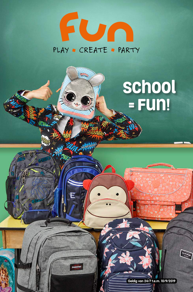 Fun folder van 30/07/2019 tot 10/09/2019 - Schoolfolder