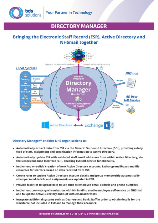 Bds Solutions Directory Manager V2 0 Page 1 Created With