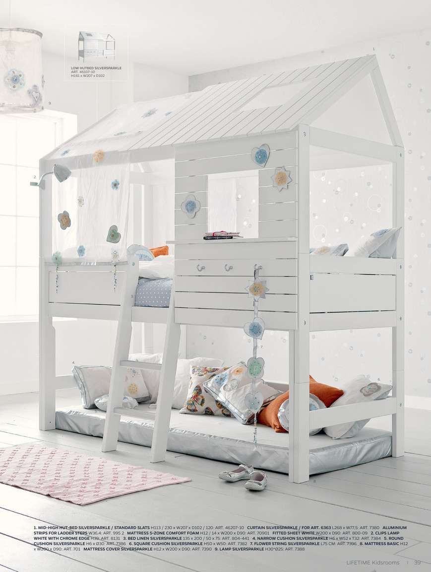 Lifetime Bed Silver Sparkle.M Schack Engel A S Lifetime Kidsrooms Catalogue Uk