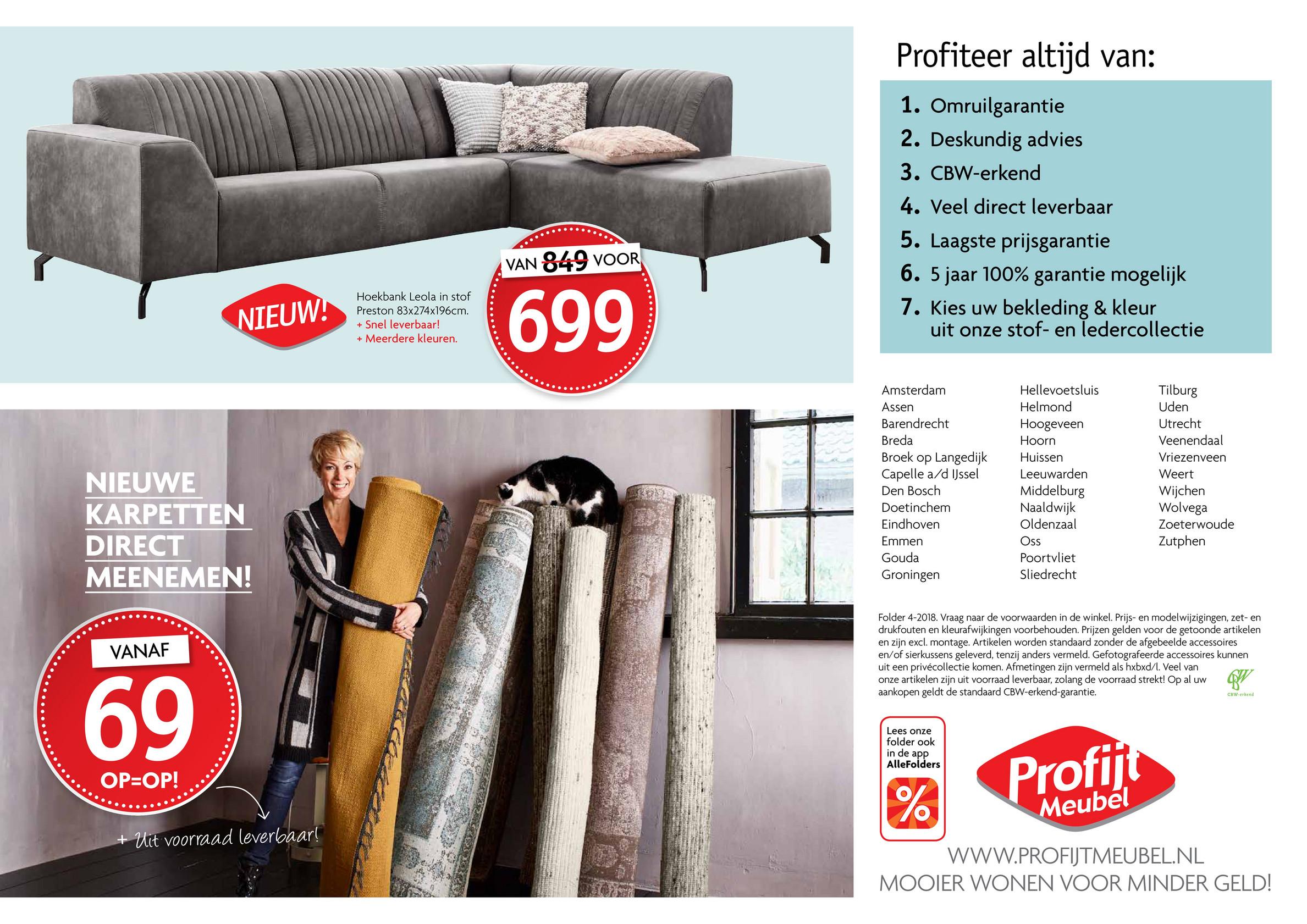 Profijt Meubels Groningen.Internationale Meubel Groep Profijt Meubel Folder 2018 04