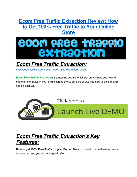DDE - Ecom Free Traffic Extraction Review and Ecom Free