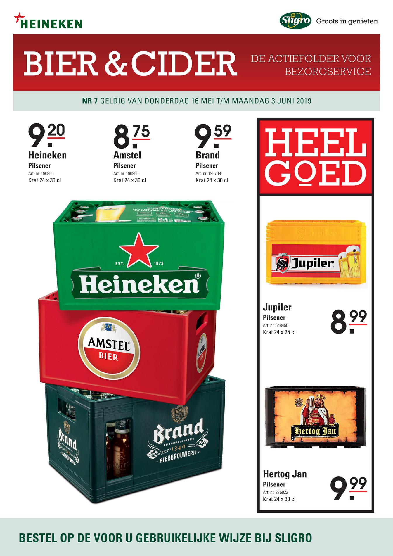 Sligro - Bier en Cider folder 07 2019 - Pagina 1