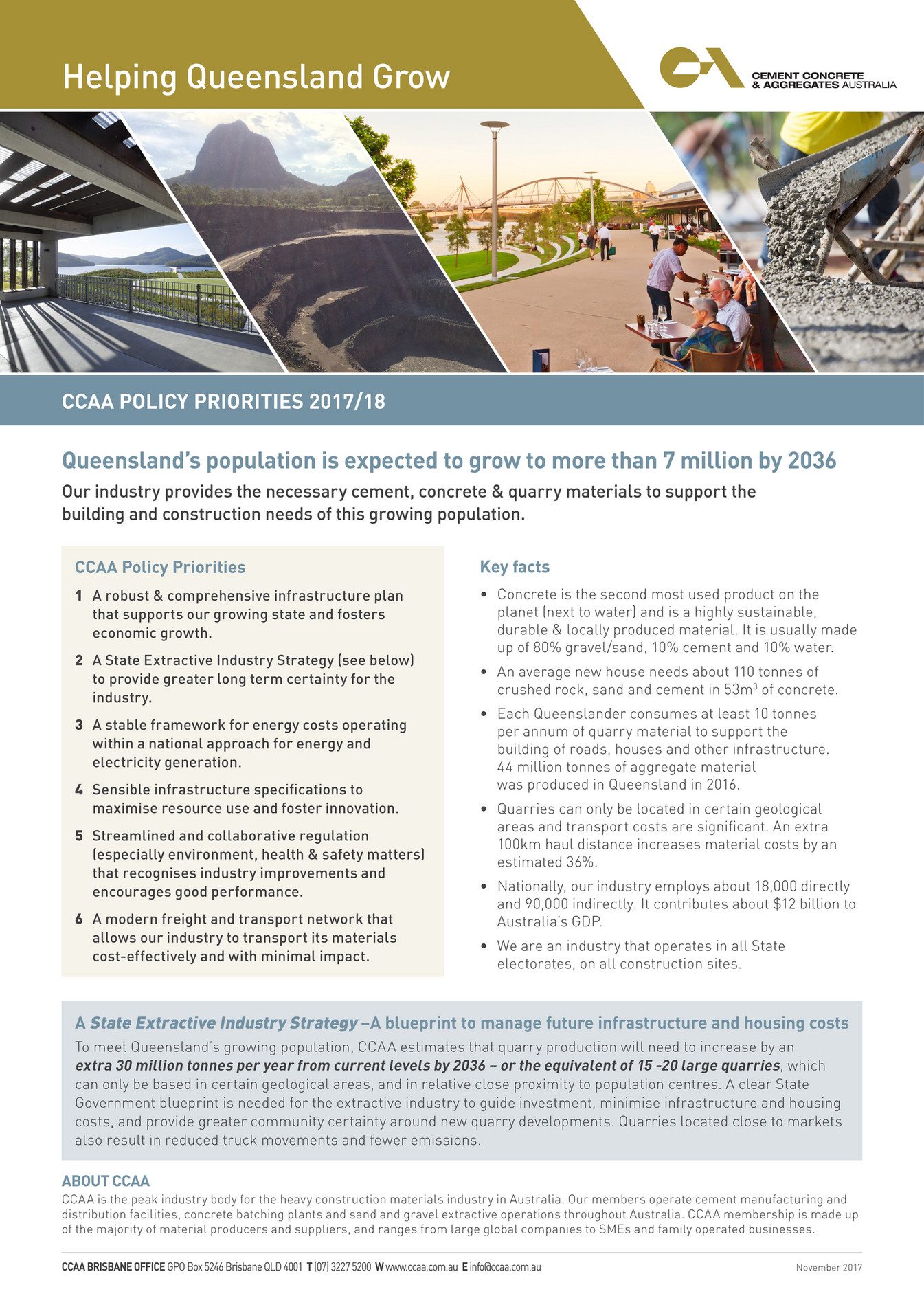 My publications - QLD CCAA Policy Priorities NOV17 - Page 1
